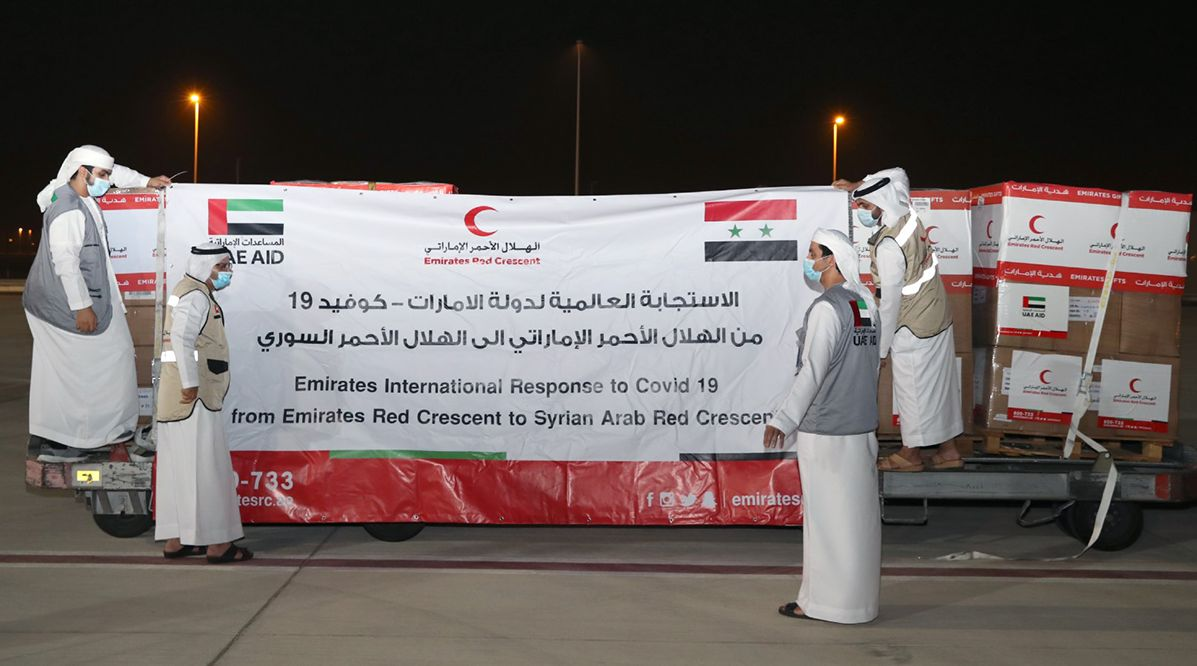 ERC sends 2nd aid plane with COVID-19 vaccines to Damascus